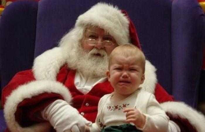 Tem Papai Noel que pode até parecer Papai Noel, mas não adianta: pra criança, é um urso polar