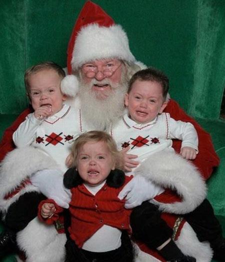 Pra que amedrontar uma criança quando se pode apavorar 3 delas?