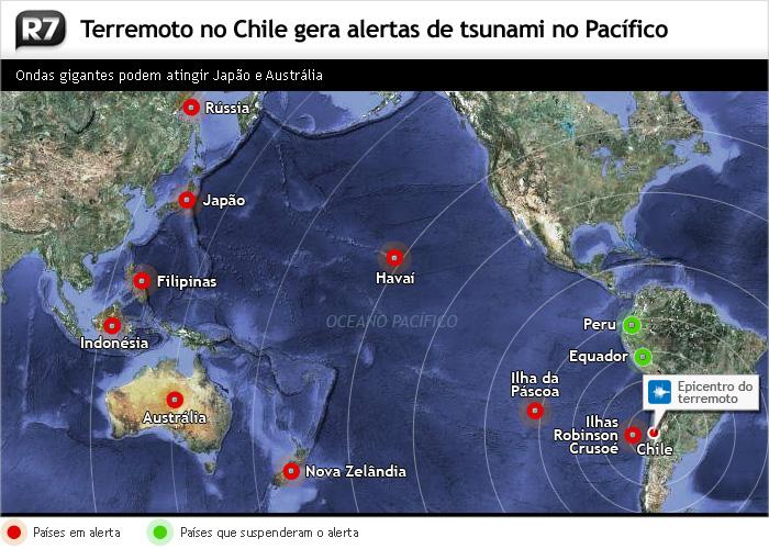 alerta, tsunami, pacífico, terremoto, chile