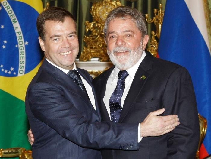 Lula encontra presidente da rússia em moscou