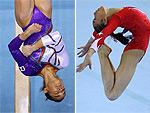 Jovens atletas dão show nas provas da ginástica artística