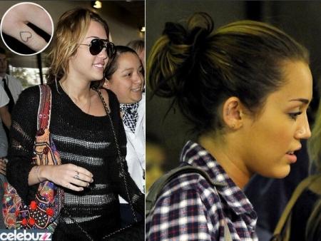 Miley Cyrus acabou de fazer uma nova tatuagem. Desta vez, a estrela teen