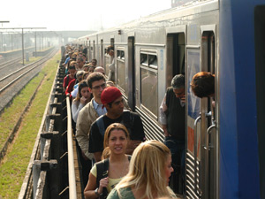passageiros metrô