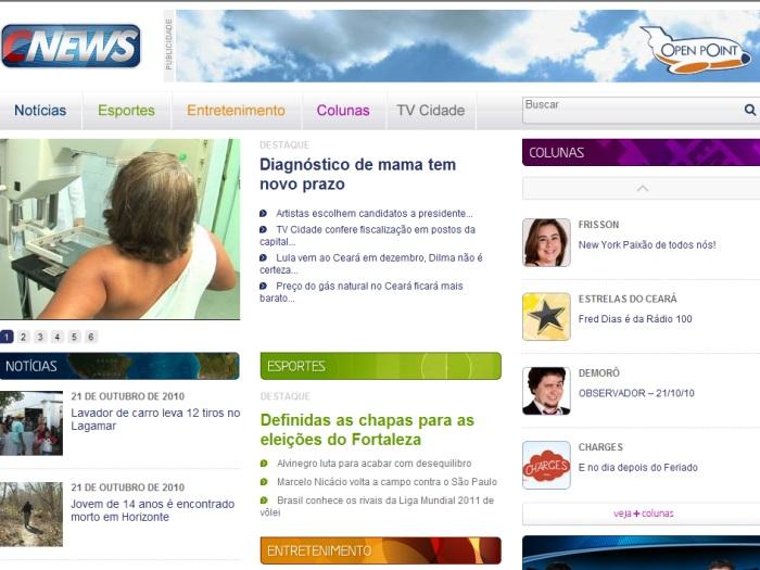 Cnews, portal, TV Cidade