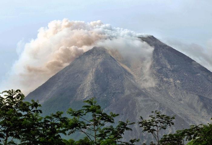 Fotos Vulcao Indonesia Merapi Vulcão Indonésia