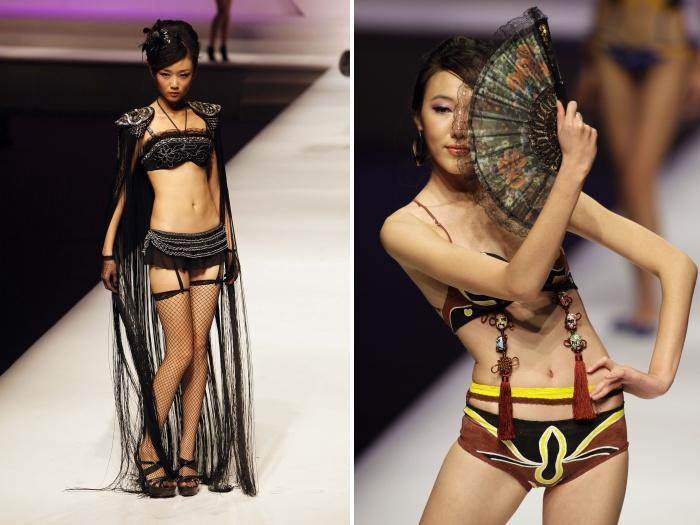 Modelos de lingerie  exóticas