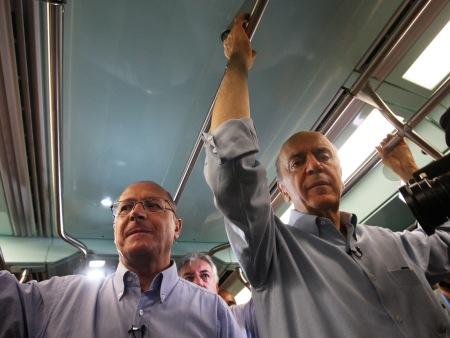 Alckmin e Serra no Metrô de São Paulo,SP
