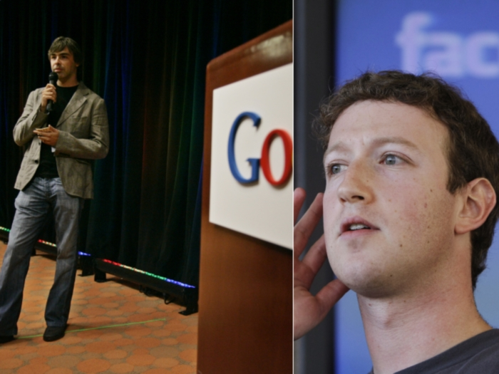 montagem, Zuckerberg, Page