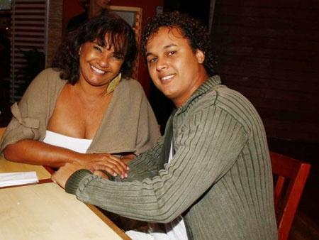 Solange Couto e marido