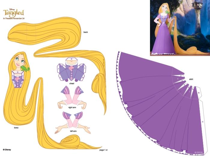 Aprenda A Fazer Uma Boneca De Papel Da Personagem Rapunzel
