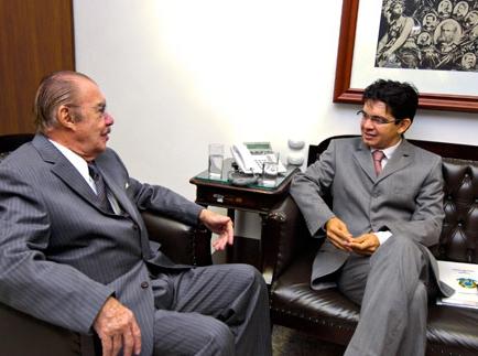 Randolfe Rodrigues e José Sarney