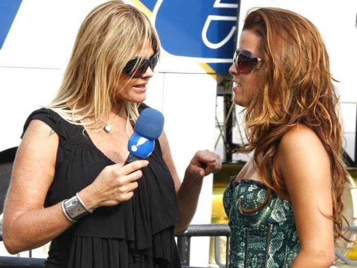 Monique Evans e Renata Santos