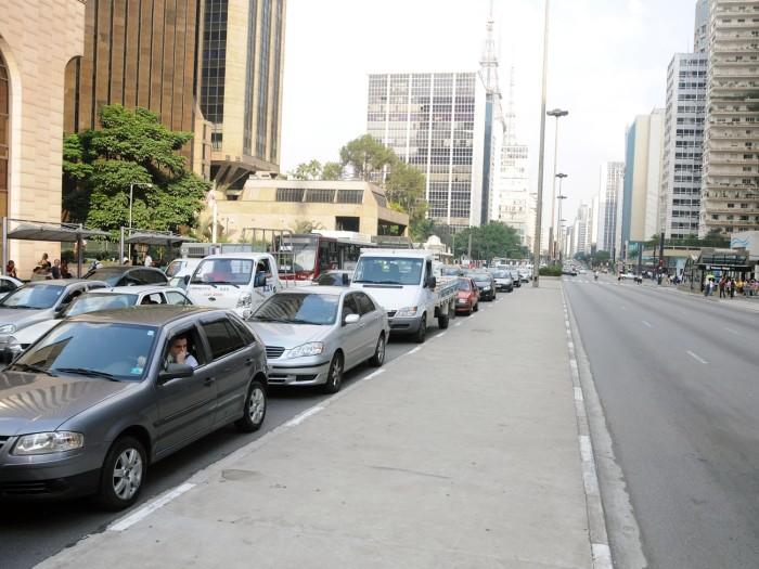 greve de professores, trânsito, avenida paulista, 700X525