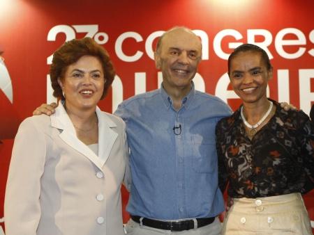 Pesquisa aponta que Marina e Serra estão mais propensos a disputar 2º turno com Dilma