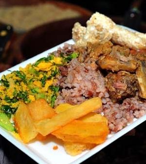 arroz vermelho com suã