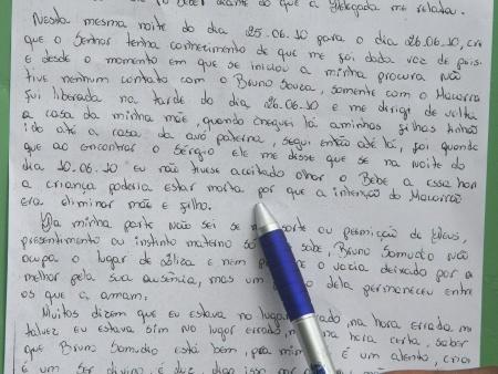 Leia a íntegra da carta da ex-mulher do Bruno sobre o caso Eliza ...