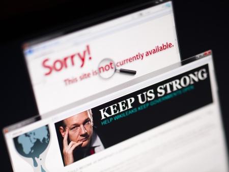 WikiLeaks fora do ar HG