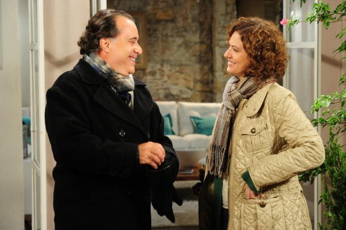 Tony Ramos (Totó) e Patrícia Pillar (Juliana) gravam final de Passione (Globo)