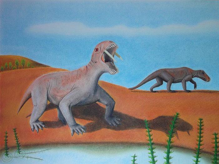 dinossauro dentes de sabre 700x525
