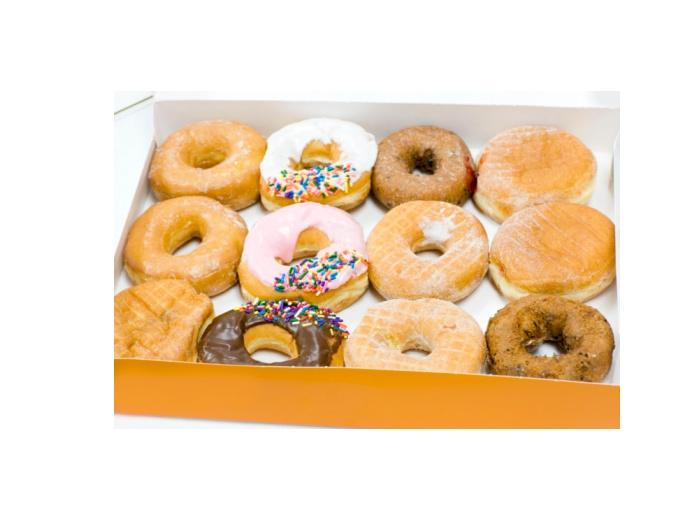 """3º lugar: Donuts (rosquinhas). Entre 35% e 40% da composição dos donuts é de gorduras trans, """"o pior tipo de gordura que você pode ingerir"""", alerta a nutri..."""