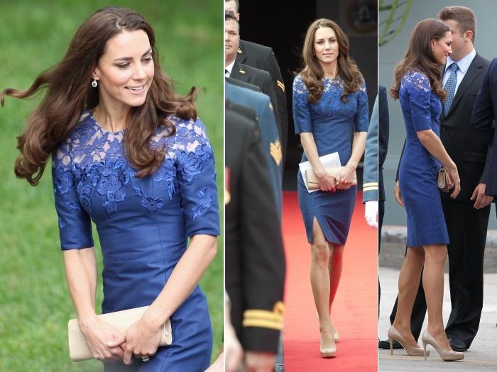 O vestido rendado, assinado pelo estilistacanadense Erdem, tem tudo a ver com o estilo que Kate Middleton assumiu depois do casamento com o príncipe Willi...