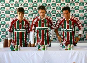 """Flu apresenta trio do """"Rio da Prata"""" e exalta garra dos novos reforços"""