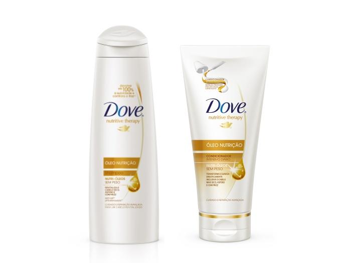 Nova linha de hidratação para os cabelos com óleo de nutrição sem peso, que transformam e suavizam os cabelos secos e com frizz, preço sob consulta, da Dov...