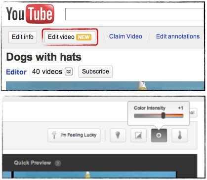 YouTube edição vídeos