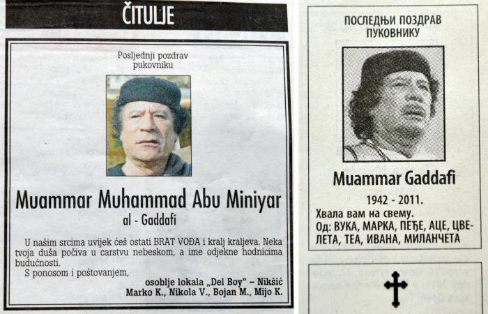 Obituário - Gaddafi