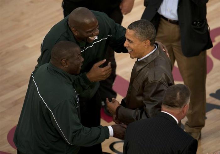 Obama no basquete