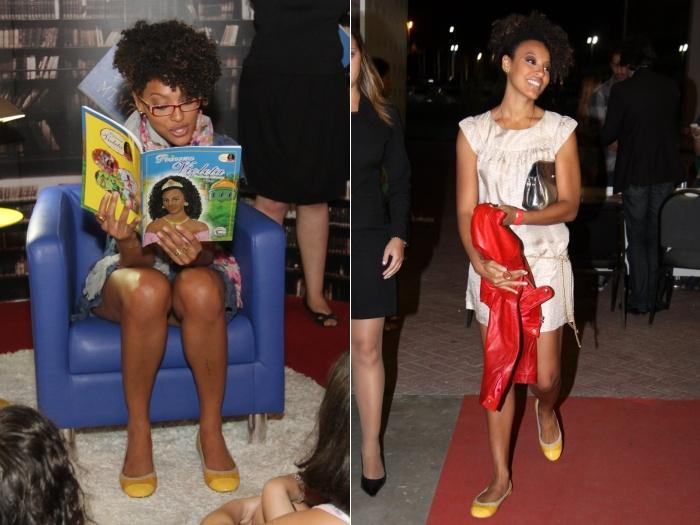 Sheron Menezes mostra estilo e cria dois looks com o mesmo sapato