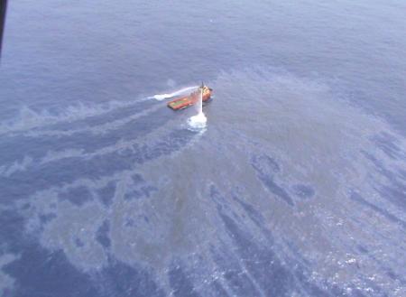 barco limpando