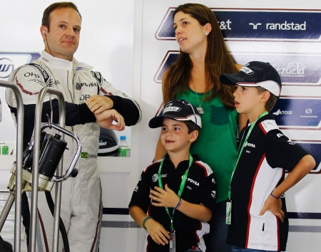 Photo of Rubens Barrichello & his  Son  Eduardo Barrichello