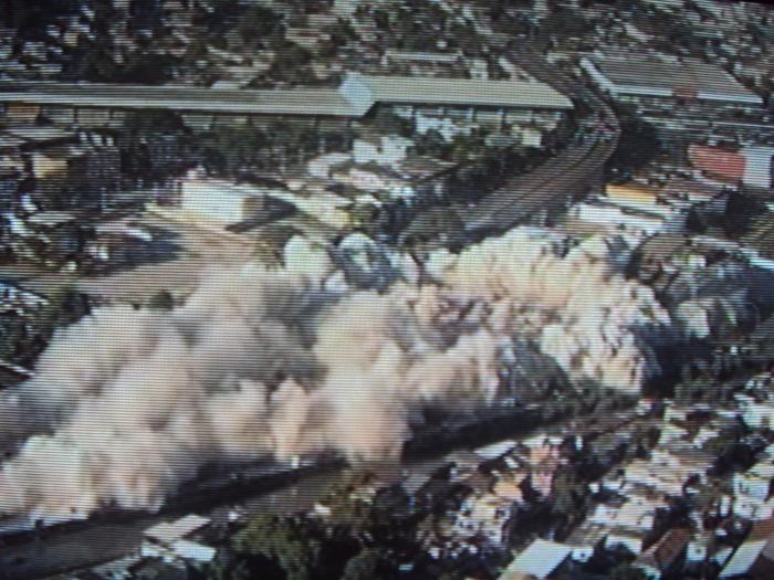 demolição terminal Pavuna - 05.02.2012
