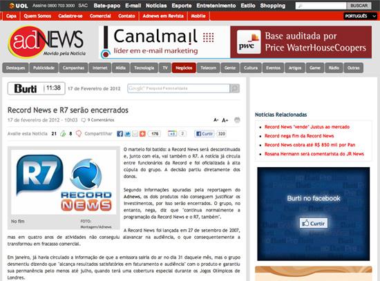 Montagem Adnews