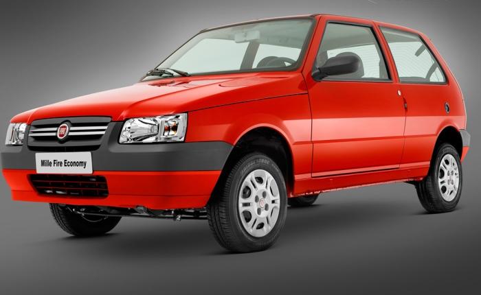 2º: Fiat Uno— 5.042 ocorrências