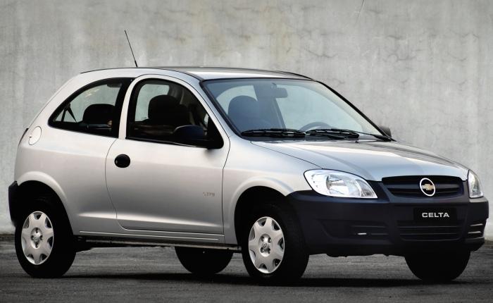 5º: Chevrolet Celta— 2.183 ocorrências