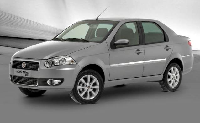 11º: Fiat Siena— 1.118 ocorrências