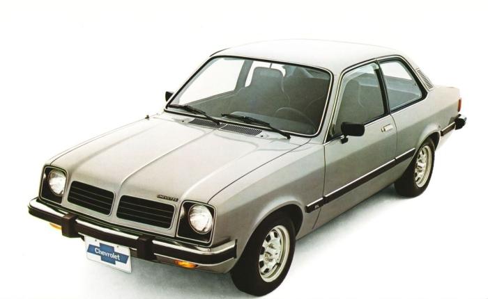 12º: Chevrolet Chevette— 1.033 ocorrências