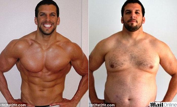 Respostas de comida separadas quem peso perdido uma foto antes e depois