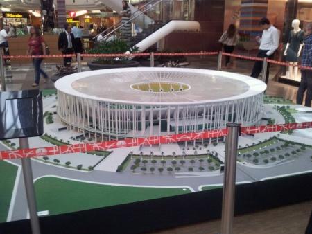 Maquete interativa do Estádio Nacional de Brasília Mané Garrincha será itinerante