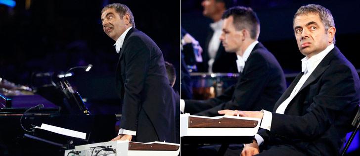 Mr. Bean rouba a cena no Estádio Olímpico. Divirta-se!