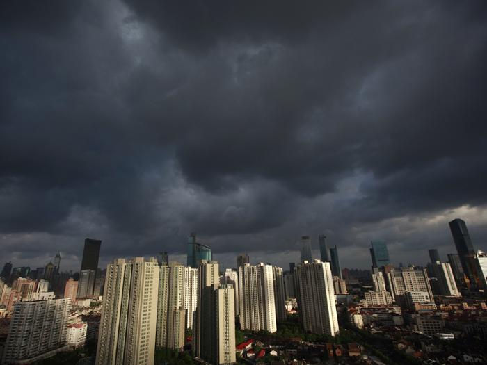 Tufão Haikui Xangai China