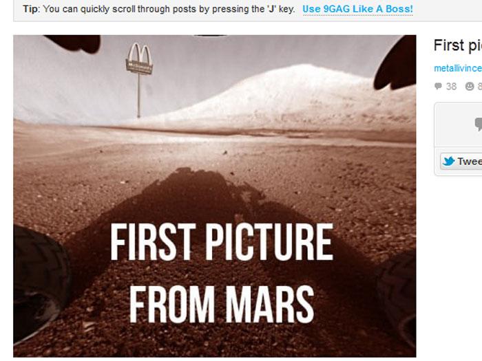 Memes sobre o robô Curiosity bombam na internet - Foto 22 ...
