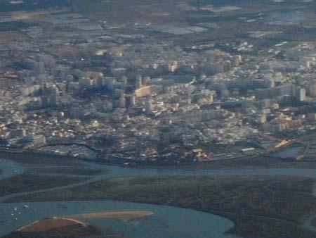 Faro, vista aérea, 450