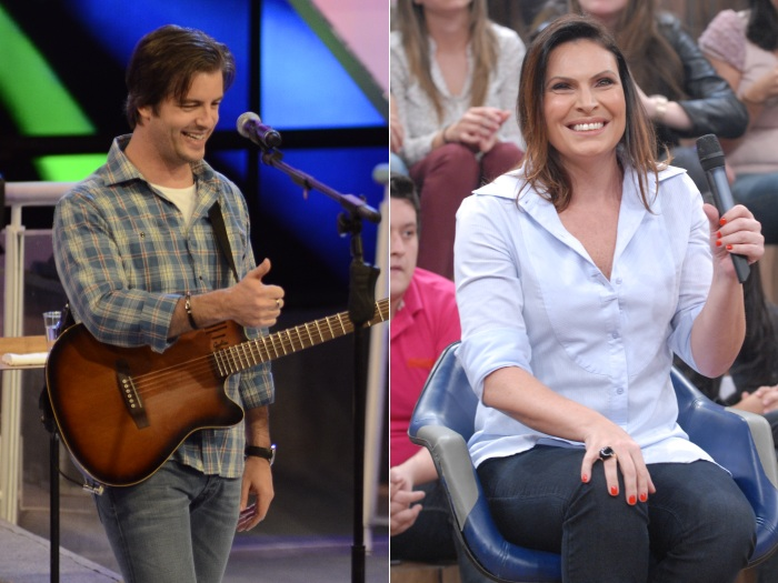 Victor Chaves e Laura Muller