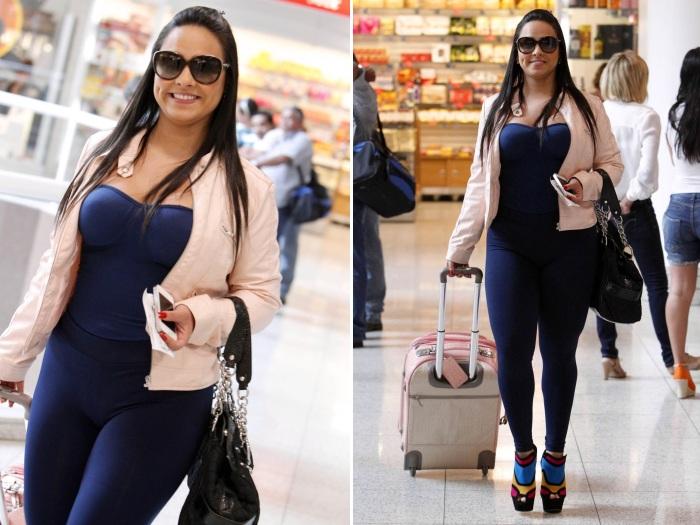Roupa Errada Mulher Melancia Engorda Em Passagem Por Aeroporto