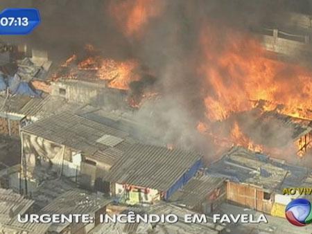 Incêndio atinge favela do Moinho em São Paulo