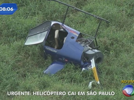 acidente de helicptero na Ayrton Senna