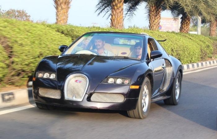 indianos improvisam vers o popular do bugatti veyron o carro mais r pido do. Black Bedroom Furniture Sets. Home Design Ideas
